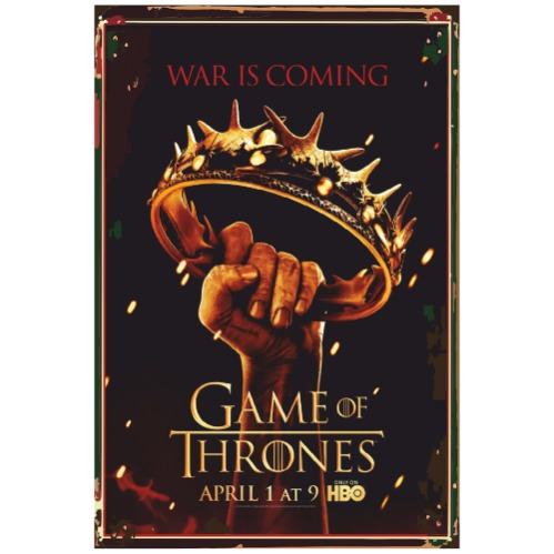 Game Of Throes Retro Vintage Ahşap Poster